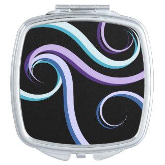 Tri-Colour Swirl Travel Mirror