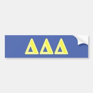 Tri Delta Yellow Letters Bumper Sticker