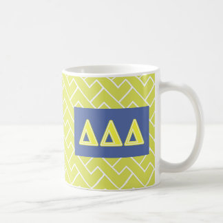 Tri Delta Yellow Letters Coffee Mug