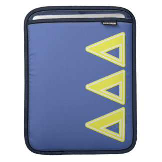 Tri Delta Yellow Letters iPad Sleeve