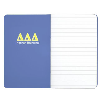 Tri Delta Yellow Letters Journal