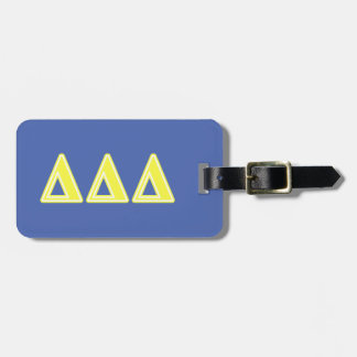Tri Delta Yellow Letters Luggage Tag
