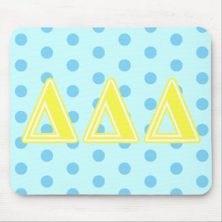 Tri Delta Yellow Letters Mouse Mat