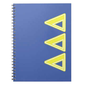 Tri Delta Yellow Letters Notebook