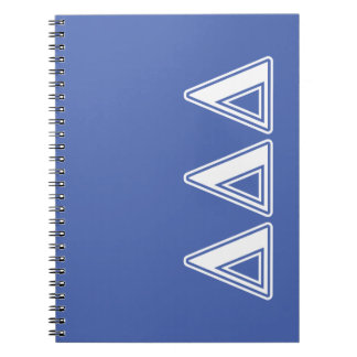 Tri Delta Yellow Letters Spiral Notebook