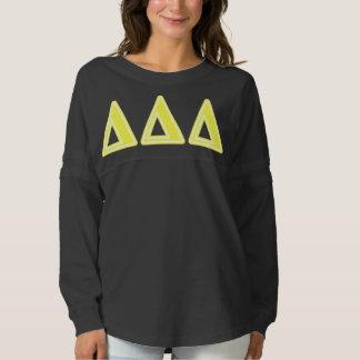 Tri Delta Yellow Letters Spirit Jersey