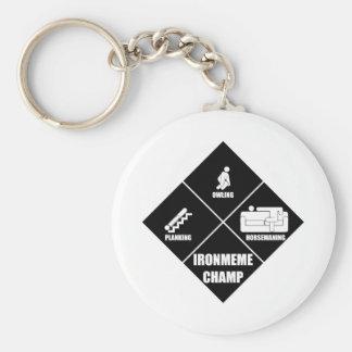 Tri-Fad-Thlon Basic Round Button Key Ring
