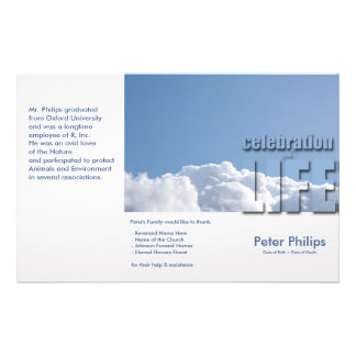Tri-Fold Funeral Memorial Service Program Flyers