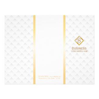 Tri-Fold Gold Diamond Monogram Modern Brochures 21.5 Cm X 28 Cm Flyer