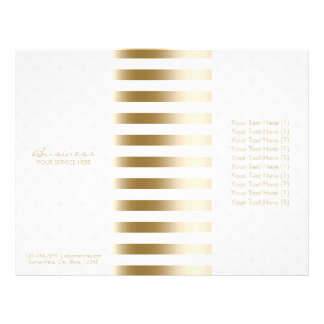 Tri-Fold Modern Gold Stripes & Diamond Quilted 21.5 Cm X 28 Cm Flyer