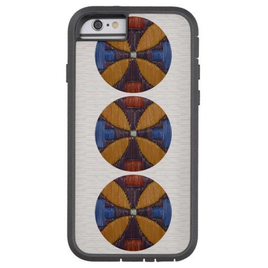 Tri Gold Flower Tough Xtreme iPhone 6 Case