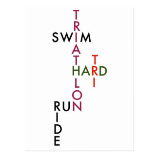 Tri Hard Postcard