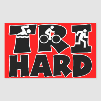Tri Hard Rectangular Sticker
