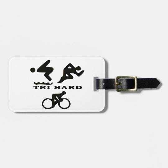 Tri Hard Triathlon Gifts Clothing and Accessories Luggage