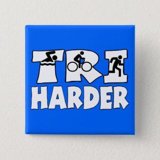 Tri Harder 15 Cm Square Badge
