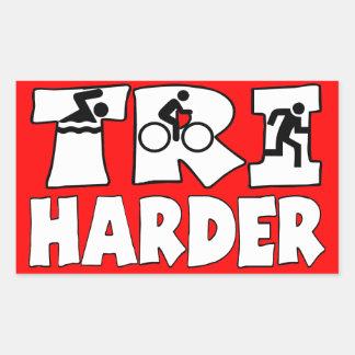 Tri Harder Rectangular Sticker