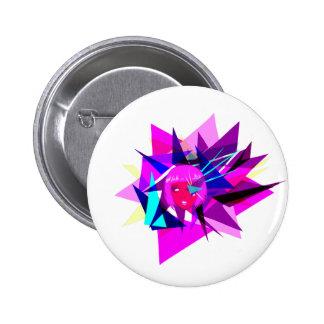 Tri it. 6 cm round badge