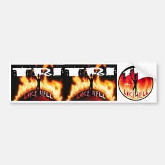 Tri Like Hell Bumper Sticker