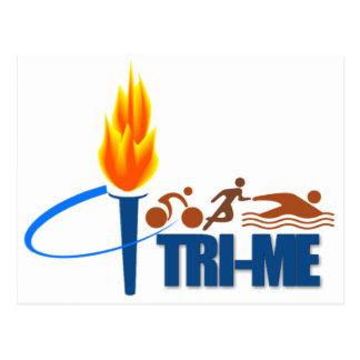 TRI-ME TRIATHLETE - SWIM / RUN / BIKE POSTCARD