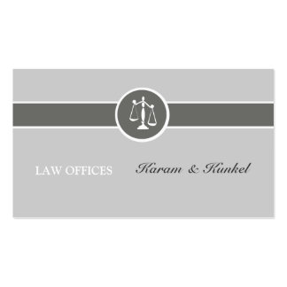 Tri Neutral Colors Plain Justice Scales Attorneys Pack Of Standard Business Cards