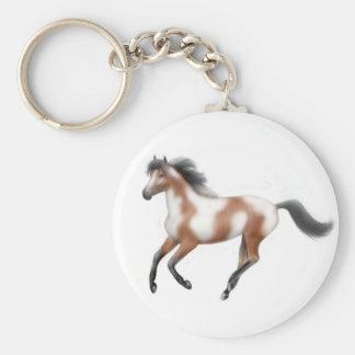 Tri Paint Horse Keychain