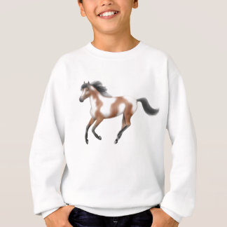 Tri Paint Horse Kids Sweatshirt