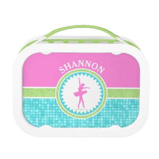 Tri-Pastel Color Dancer With Aqua Tile Lunch Boxes