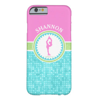 Tri-Pastel Color Figure Skating With Aqua Tile Barely There iPhone 6 Case
