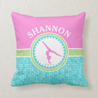 Tri-Pastel Color Gymnastics With Aqua Tile Cushion