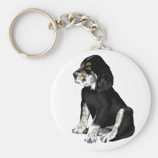 Tri-Setter Puppy Basic Round Button Key Ring