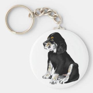 Tri-Setter Puppy Keychain