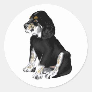Tri-Setter Puppy Round Sticker