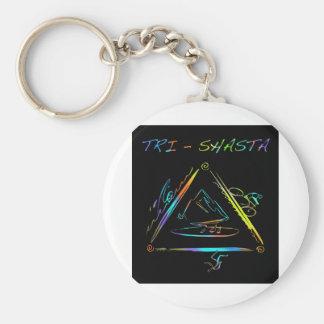 Tri Shasta Triathalon Logo Key Ring