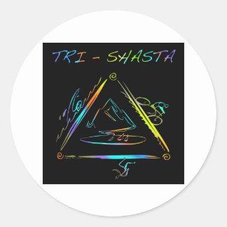 Tri Shasta Triathalon Logo Round Sticker