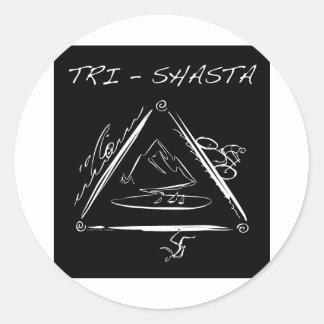 Tri-Shasta-Triathalon Logo Round Sticker