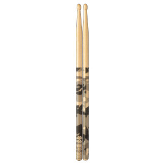 Tri-skull White camo Drumsticks