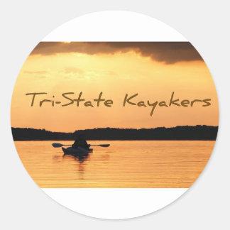 Tri-State Kayakers Classic Round Sticker