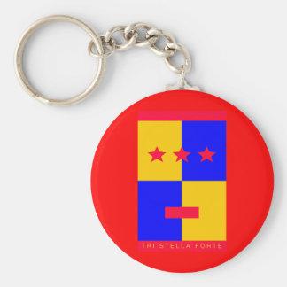 Tri Stella Forte Logo Basic Round Button Key Ring