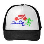TRI Triathlon Swim Bike Run COLOR Figures Design Mesh Hat
