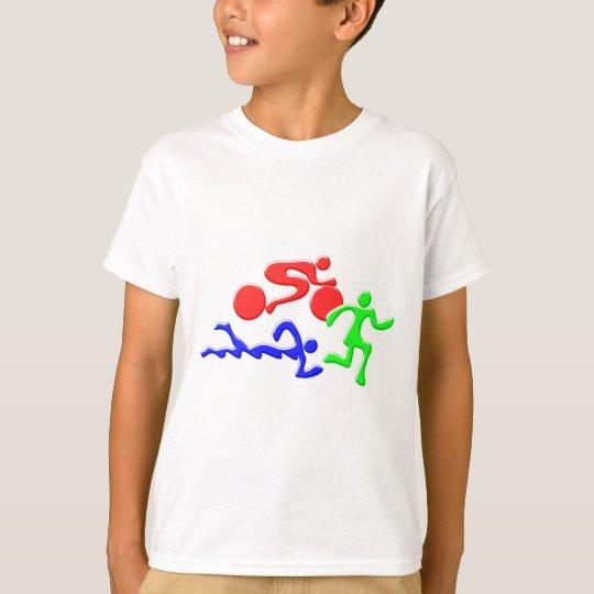TRI Triathlon Swim Bike Run COLOR Figures Design