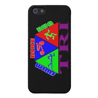 TRI Triathlon Swim Bike Run PYRAMID Design iPhone 5/5S Cases