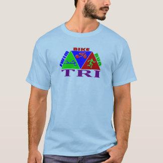 TRI Triathlon Swim Bike Run PYRAMID Design T-Shirt