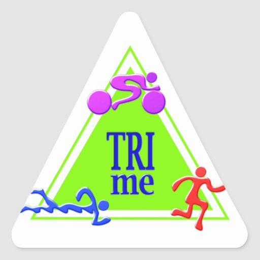 TRI Triathlon TRI Me Sticker Triangle