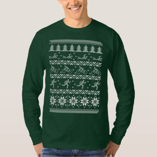 Tri Triathlon Ugly Christmas Sweater Xmas