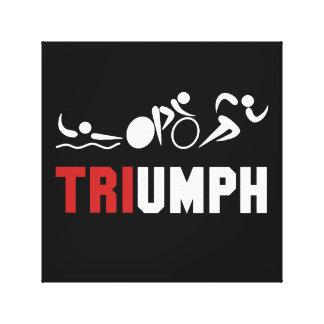 Tri Triumph Canvas Print