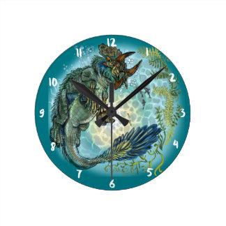 Tri-turtletops Dinosaur Round Clock