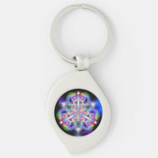 TRI-umphant Silver-Colored Swirl Key Ring