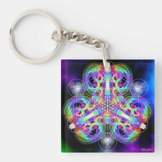 TRI-umphant/Thrive Double-Sided Square Acrylic Key Ring