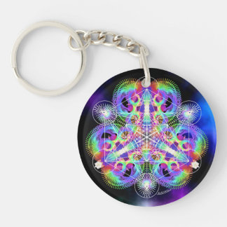 TRI-umphant/Wings of Expectation Double-Sided Round Acrylic Key Ring
