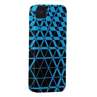 Triagonal Ebony (Cyan) iPhone 4S Case
